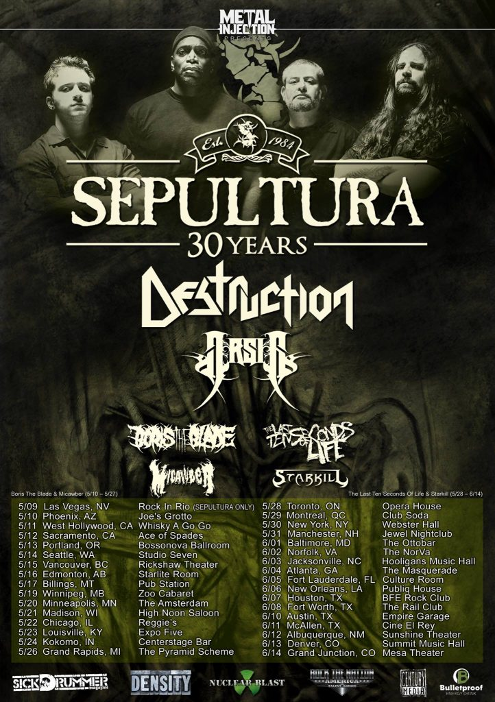 Destruction tour 2015